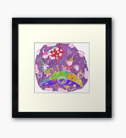 """Hocus Pocus""-Children Colorful Fantasy Stories Framed Print"