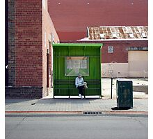 bus stop at the bottom of the world Photographic Print