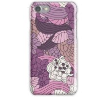 Vintage Romantic Pink White Purple Brown Floral iPhone Case/Skin