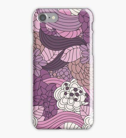 Vintage Romantic Pink White Purple Brown Floral iPhone Case/Skin
