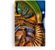 The Grand Staircase - QVB - The HDR Experience Canvas Print