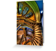 The Grand Staircase - QVB - The HDR Experience Greeting Card
