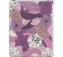 Vintage Romantic Pink White Purple Brown Floral iPad Case/Skin