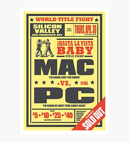Mac vs. PC Photographic Print
