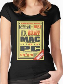 Mac vs. PC Women's Fitted Scoop T-Shirt
