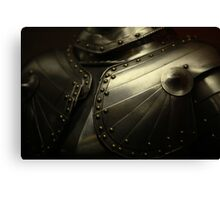 old knight's armor Canvas Print