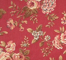 Vintage Elegant Girly Pink Red Blue Brown Roses by Maria Fernandes