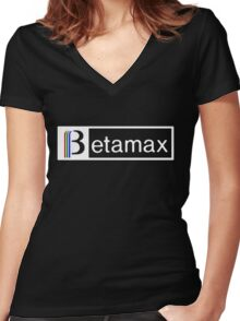 betamax Women's Fitted V-Neck T-Shirt