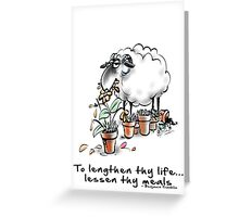 fit sheep eat less Greeting Card