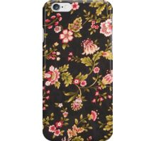 Vintage Pink And Yellow Floral Pattern  iPhone Case/Skin