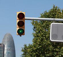 green traffic light  by mrivserg