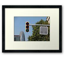 green traffic light  Framed Print