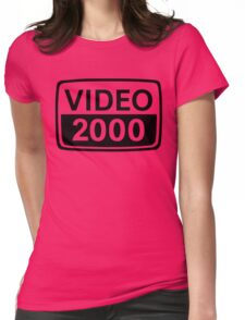 video 2000 Womens Fitted T-Shirt