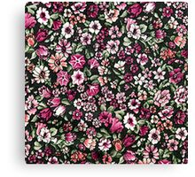Cute Red Pink And White Pretty Floral Canvas Print
