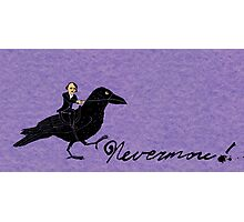 Edgar Allan Poe and Raven Photographic Print