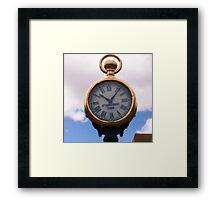 Spitz Street Clock Framed Print