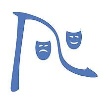 Riverfront Logo - Blue-White (Small) Photographic Print
