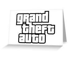 Grand Theft Auto Logo  Greeting Card