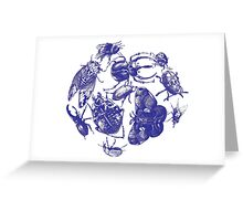 Buggy Toile Greeting Card