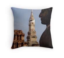 Buddha Profile Throw Pillow