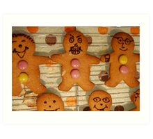 Silence of the Gingerbread People Art Print