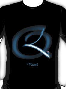 Quicksilver Vivaldi Font Iconic Charactography - Q T-Shirt