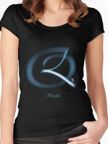 Vivaldi Font Iconic Charactography - Q Women's Fitted Scoop T-Shirt