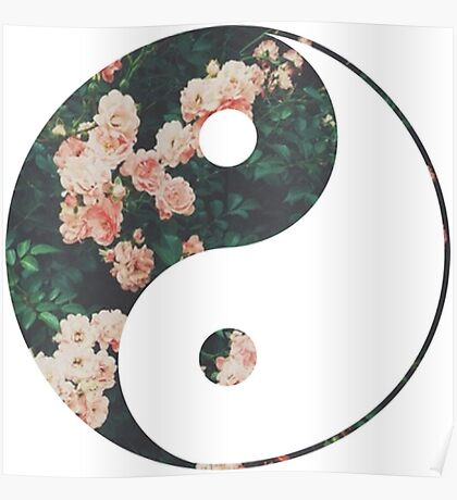 Pink Flower Zen Poster