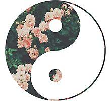 Pink Flower Zen Photographic Print