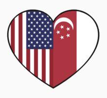 USA & Singapore Kids Tee