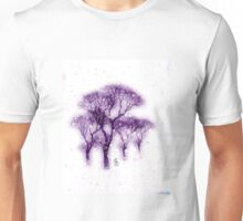 Forest in the snow Unisex T-Shirt