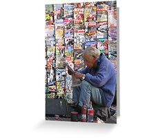 Newspaper Stand Greeting Card