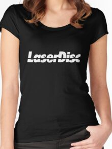 laser disc Women's Fitted Scoop T-Shirt