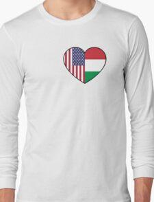 USA & Italy Long Sleeve T-Shirt