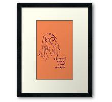 Royal Shade (orange) Framed Print
