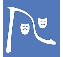 Riverfront Logo - White-Blue (Small) Photographic Print