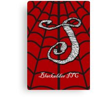 Spiderman Blackadder Font Iconic Charactography -S Canvas Print