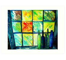 Through the Glass Window Art Print