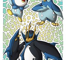 Piplup! Prinplup! Empoleon! by PhaseChan