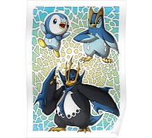 Piplup! Prinplup! Empoleon! Poster