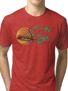 Floral (green) Tri-blend T-Shirt