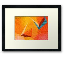RED FISHING HOLE Framed Print