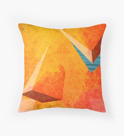 RED FISHING HOLE Throw Pillow