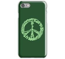 Peace in different languages iPhone Case/Skin