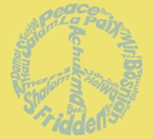 Peace in different languages Kids Clothes