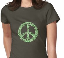 Peace in different languages Womens Fitted T-Shirt