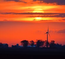 Windpower Sunrise by LynyrdSky