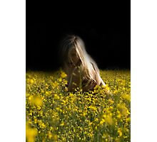 women in the flowers Photographic Print