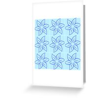 """In The Blue"" Flower Pattern Design / Avalon Media Greeting Card"