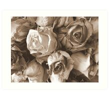 Old and crumpled Art Print